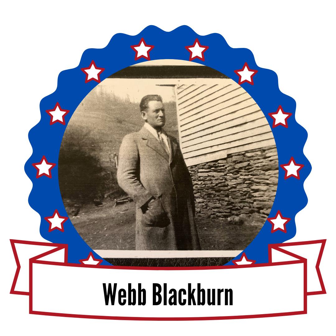 Photo of Webb Blackburn surrounded by stars