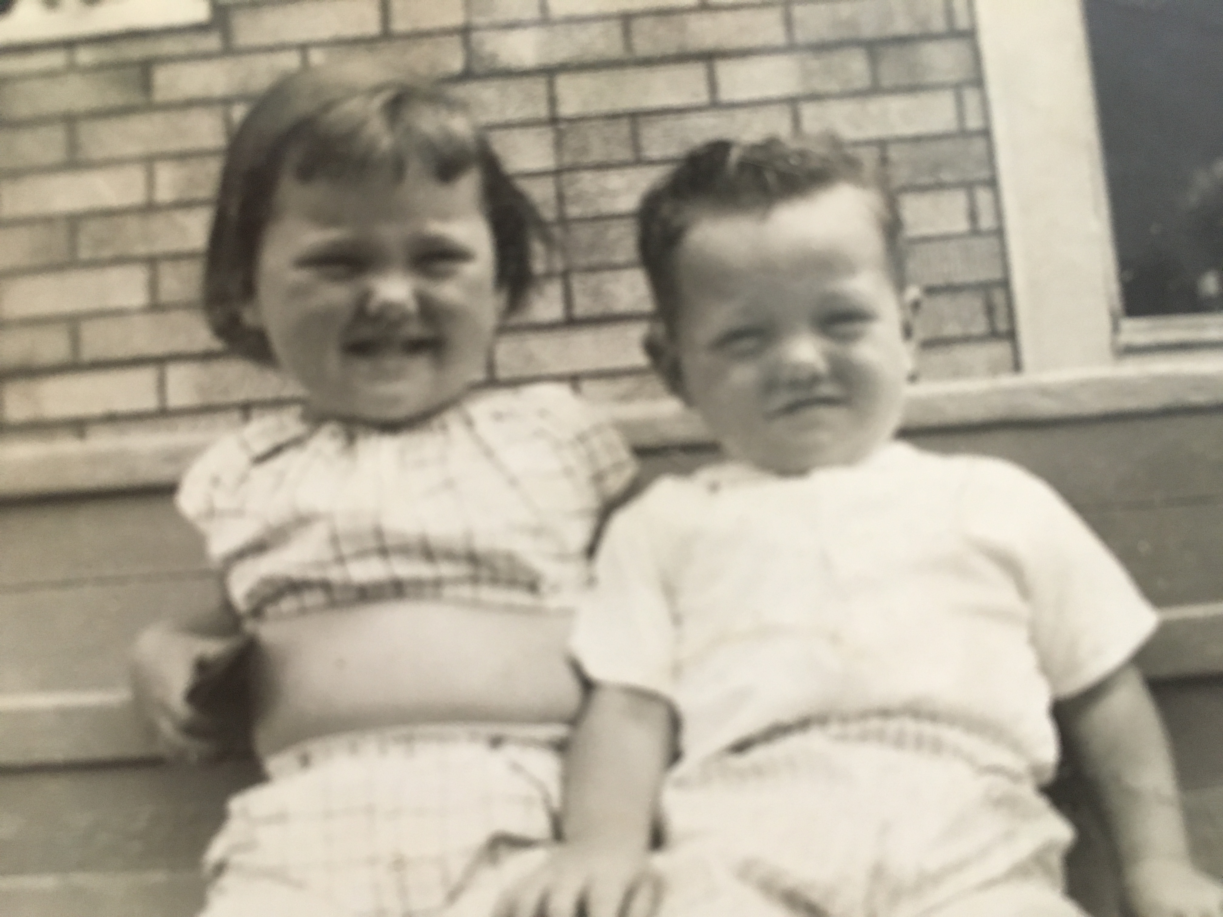 Bernie and his sister as small children