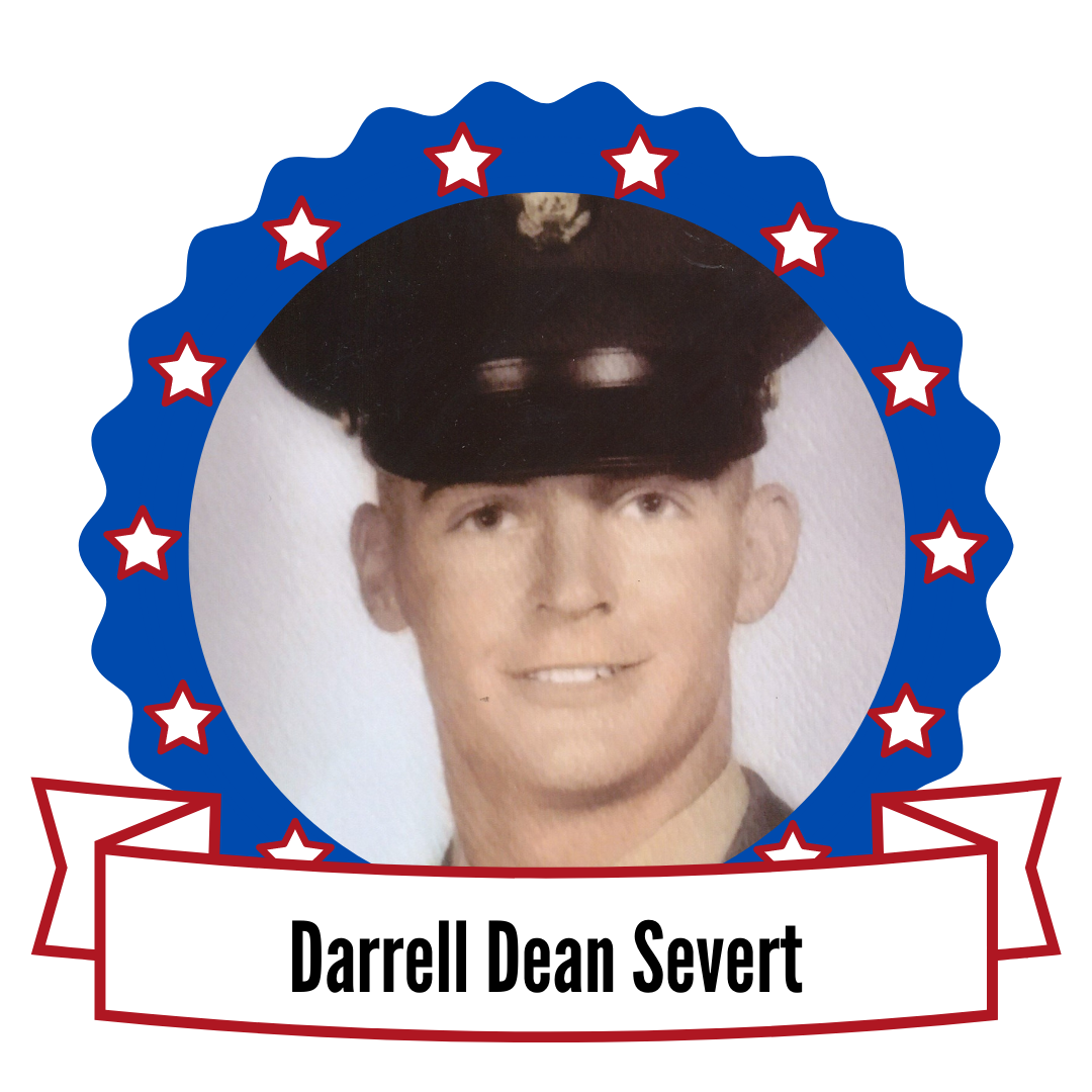 Darrell Dean Severt's photo surronded by stars