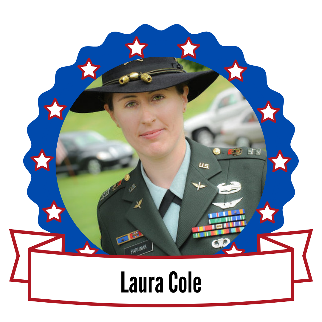 Photo of Laura Cole surrounded by stars