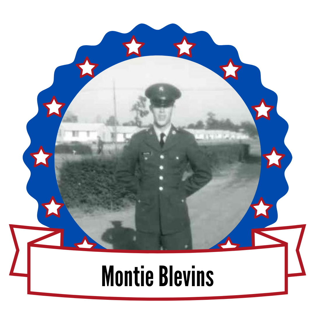 photo of Montie Blevins surrounded by stars
