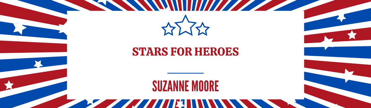 title of special feature surrounded by red, white, and blue stars and stripes