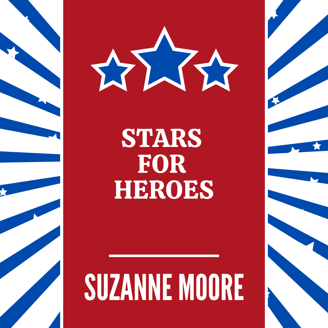 title of special feature on red background with blue and white stars and stripes radiating out from it