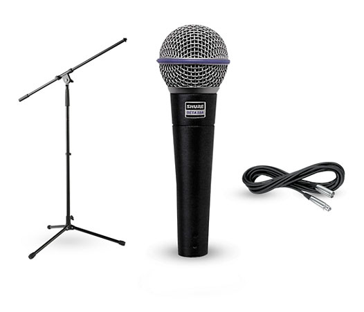 Shure Beta microphone and stand