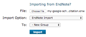 import into endnote from google scholar