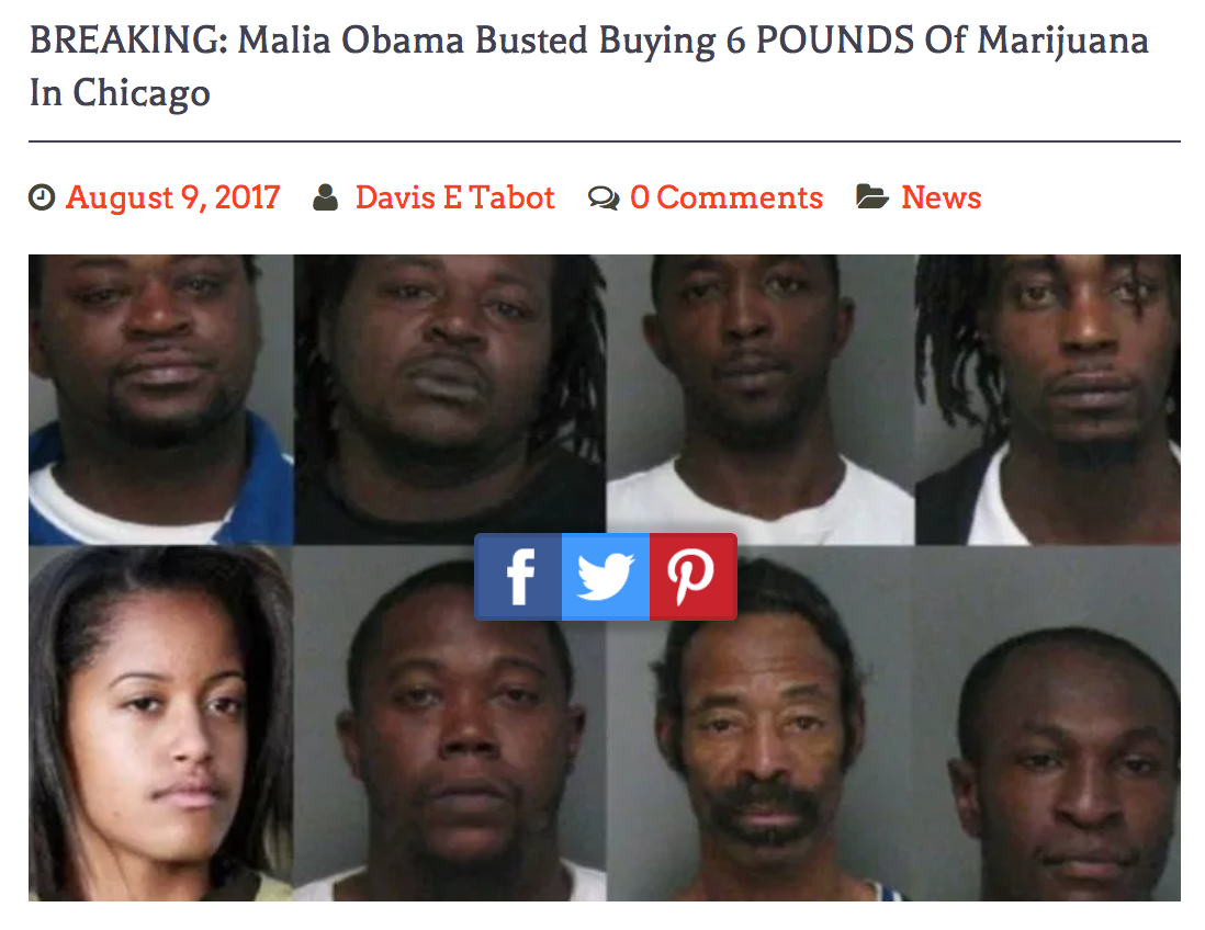 Breaking: malia obama busted buying 6 pounds of marijuana in chicago
