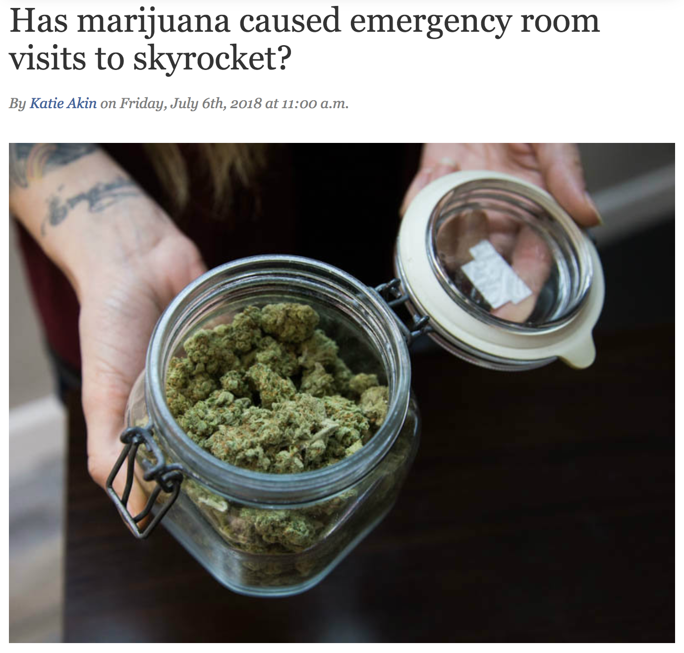 Has marijuana caused emergency room visits to skyrocket?