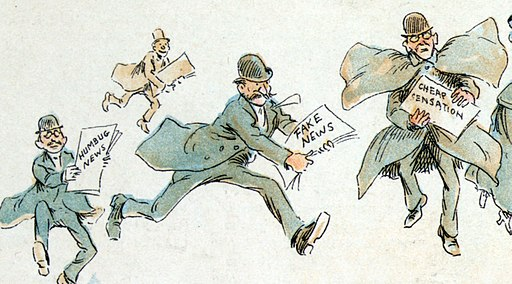1894 Fake News Cartoon by Frederick Burr Opper