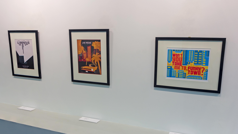 Framed artwork by students