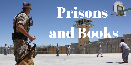 Picture of inmates with words pictures and books on it