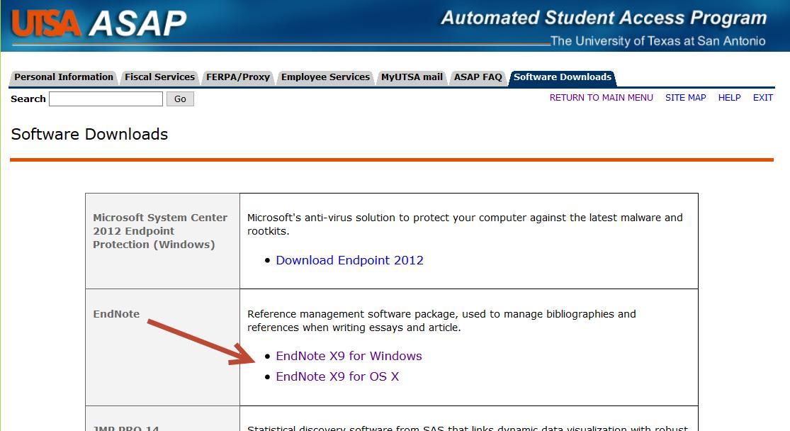 ASAP Software Downloads site