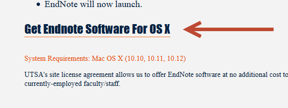 EndNote Download link for Mac