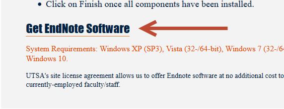 EndNote Download link Windows