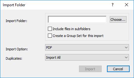 Import Folder dialog