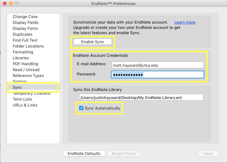 Mac - EN Preferences -(Sync settings)