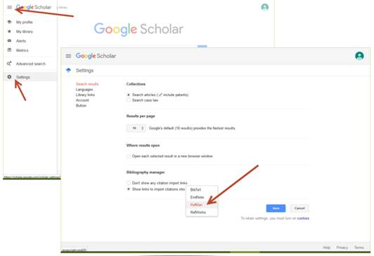 Google Scholar Citation Setup Screenshot