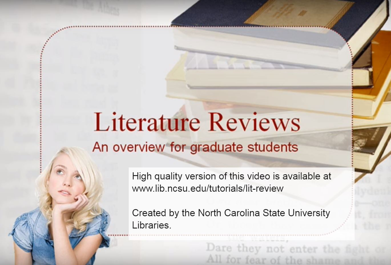 (Video) Lit review an overview