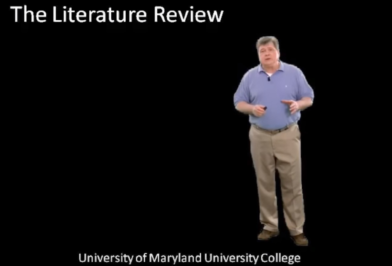 (Video) The lit review - UMUC