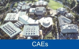 An aerial photo of the Underdale campus.