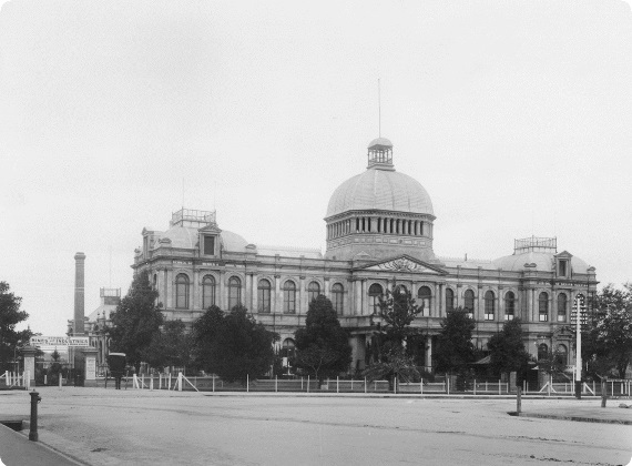 A photo of the Exhibition Building.