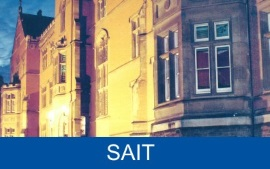 Part of the cover of the 1990 SAIT Guide.