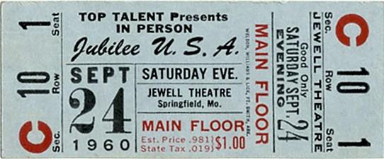 ticket to the final Jubilee show