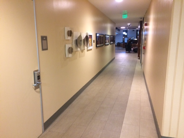 Photo of Hallway from Group Study Rooms to Dominguez Den Before Construction