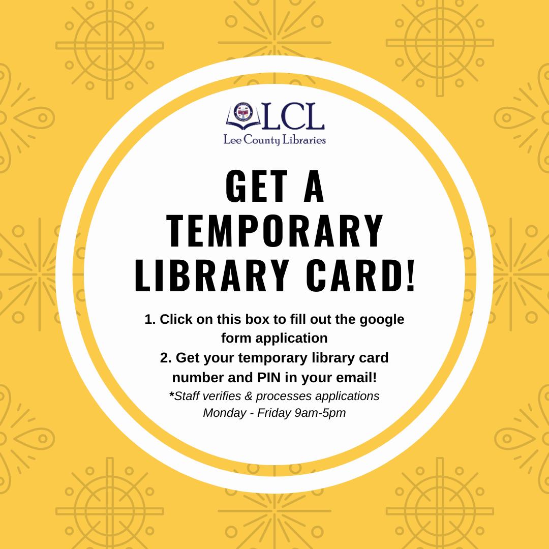 Temp Library Card