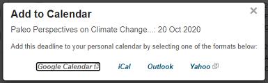 Add to calendar screen shot