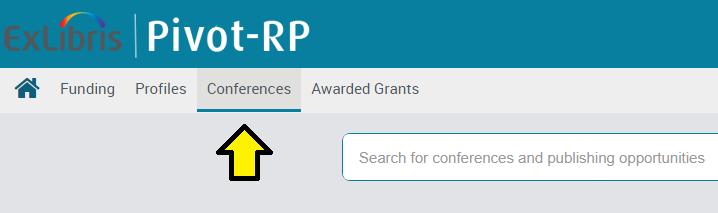 Pivot conferences tab
