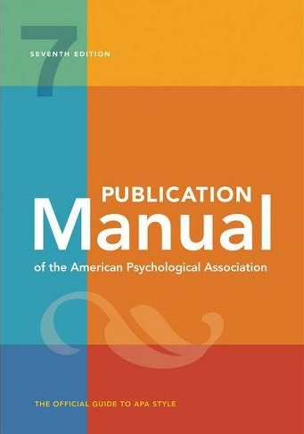 cover of APA 7th edition publication manual