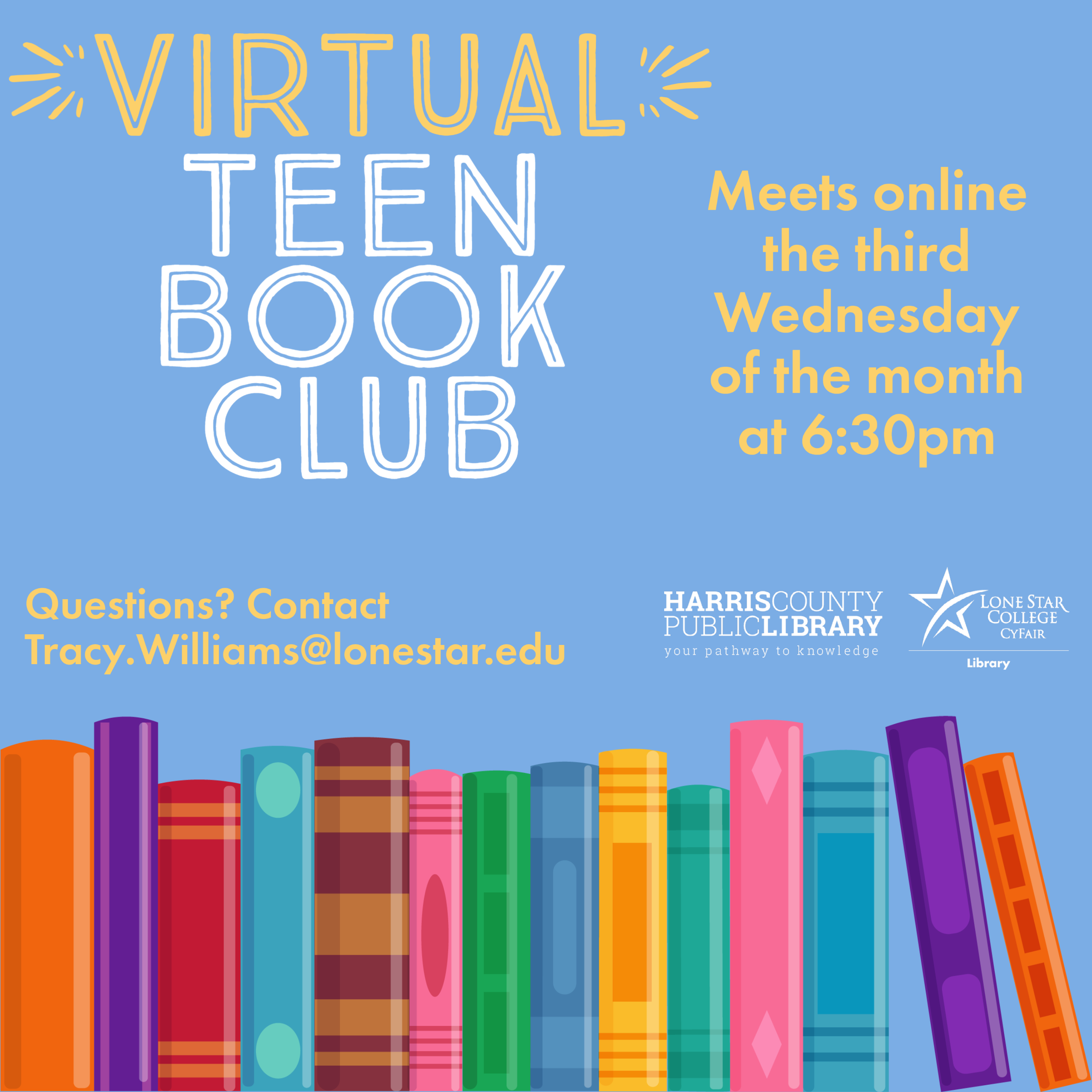teen book club meeting info