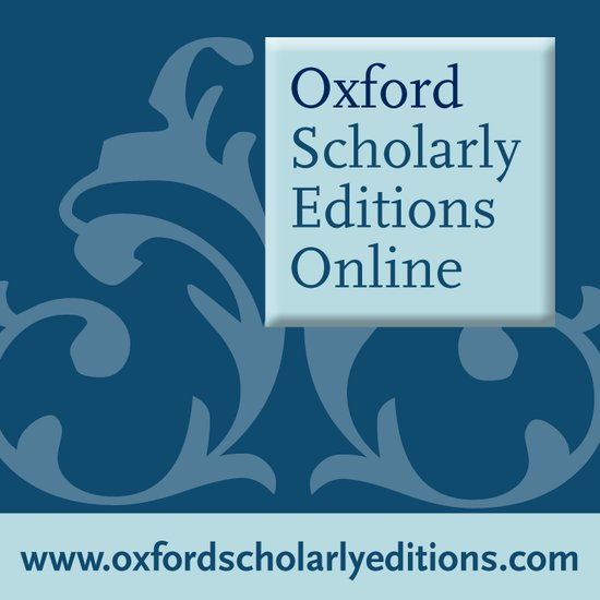 Oxford Scholarly Editions Online