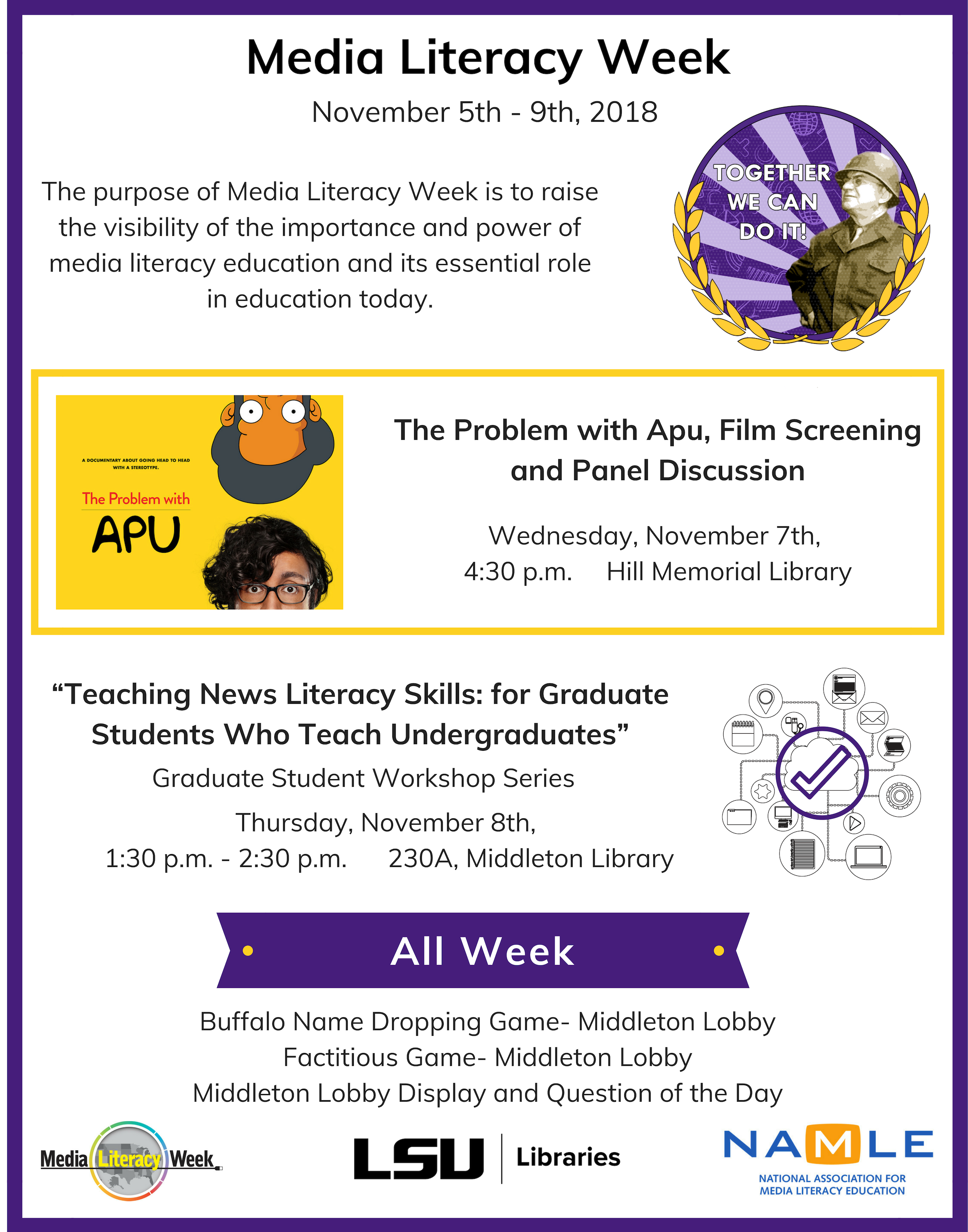 Media Literacy Week Events