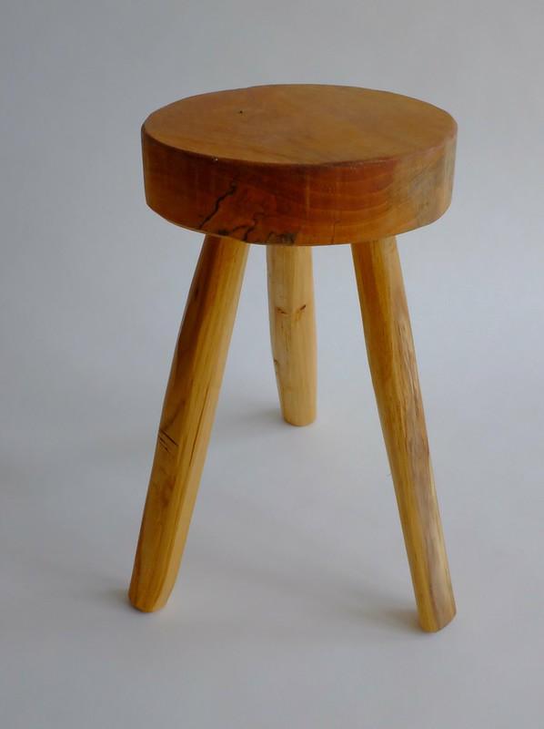 3-legged wooden stool