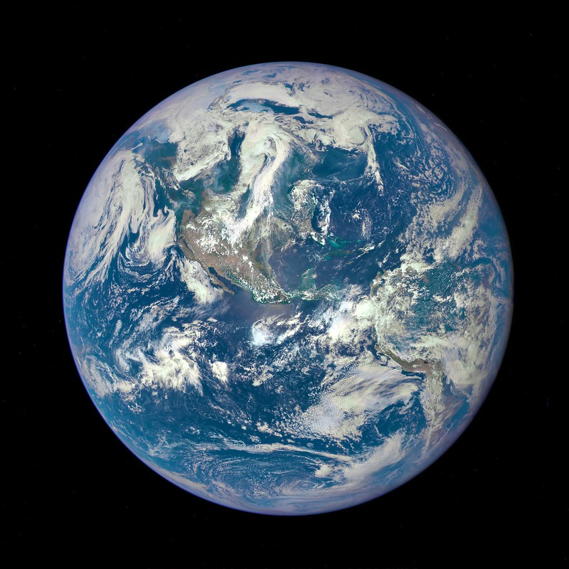 full earth from space