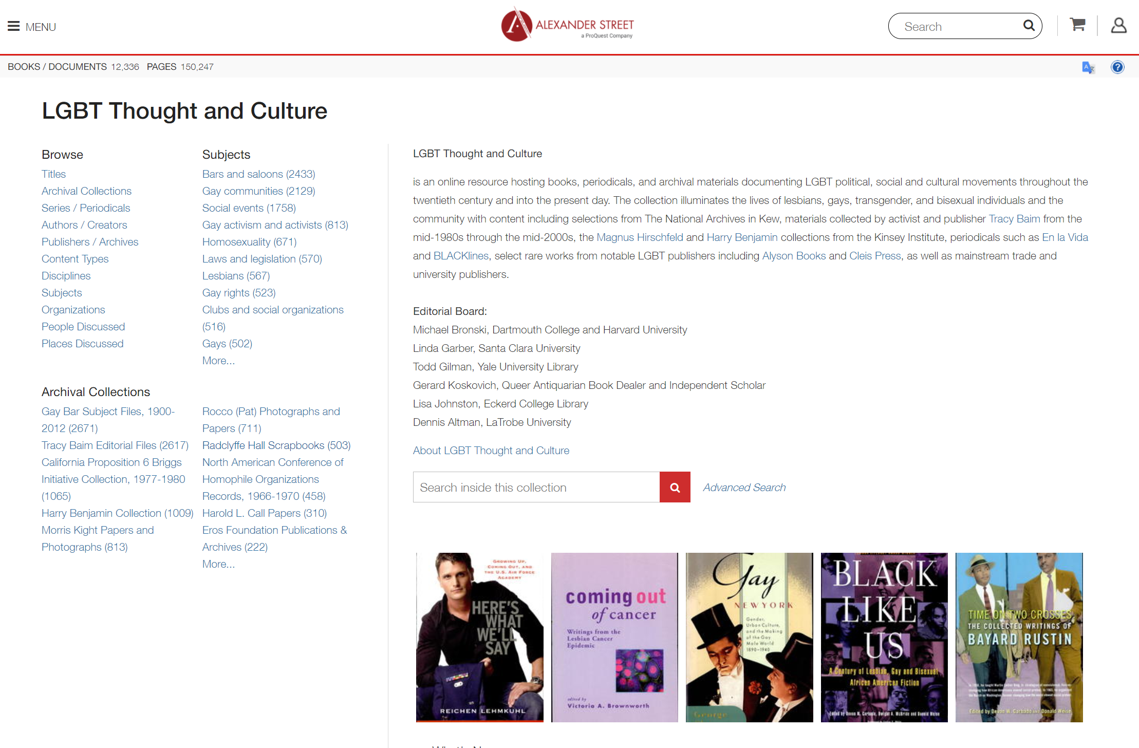 Database LGBT Thought and Culture