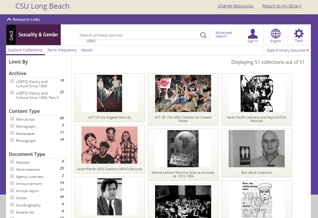 Database for Archives of Sexuality and Gender