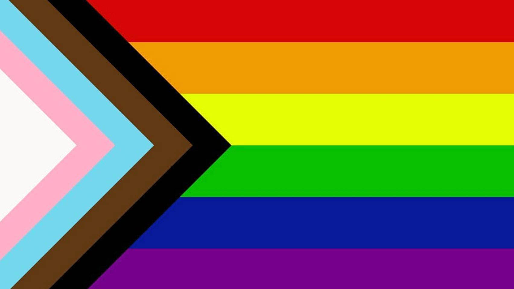 L G B T Q I A plus inclusive flag