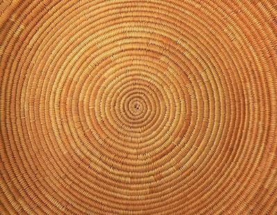 Interior of Pomo Basket