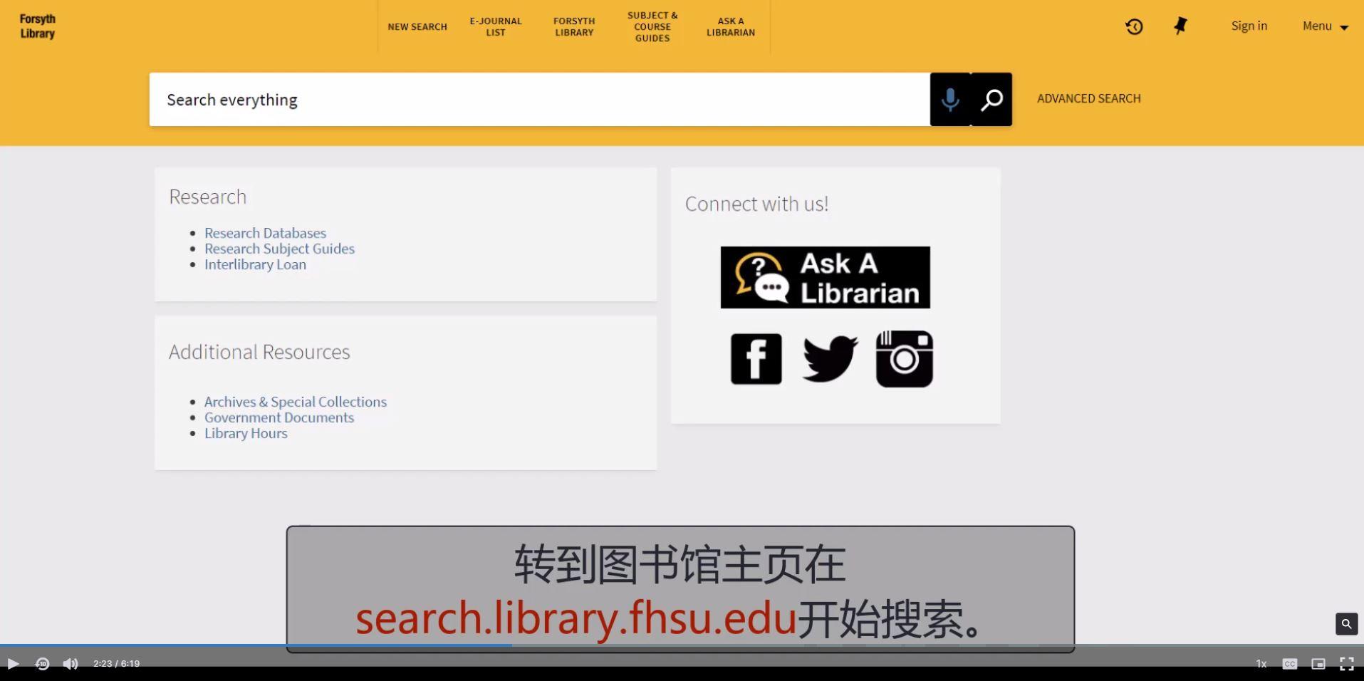 library catalog at search.library.fhsu.edu