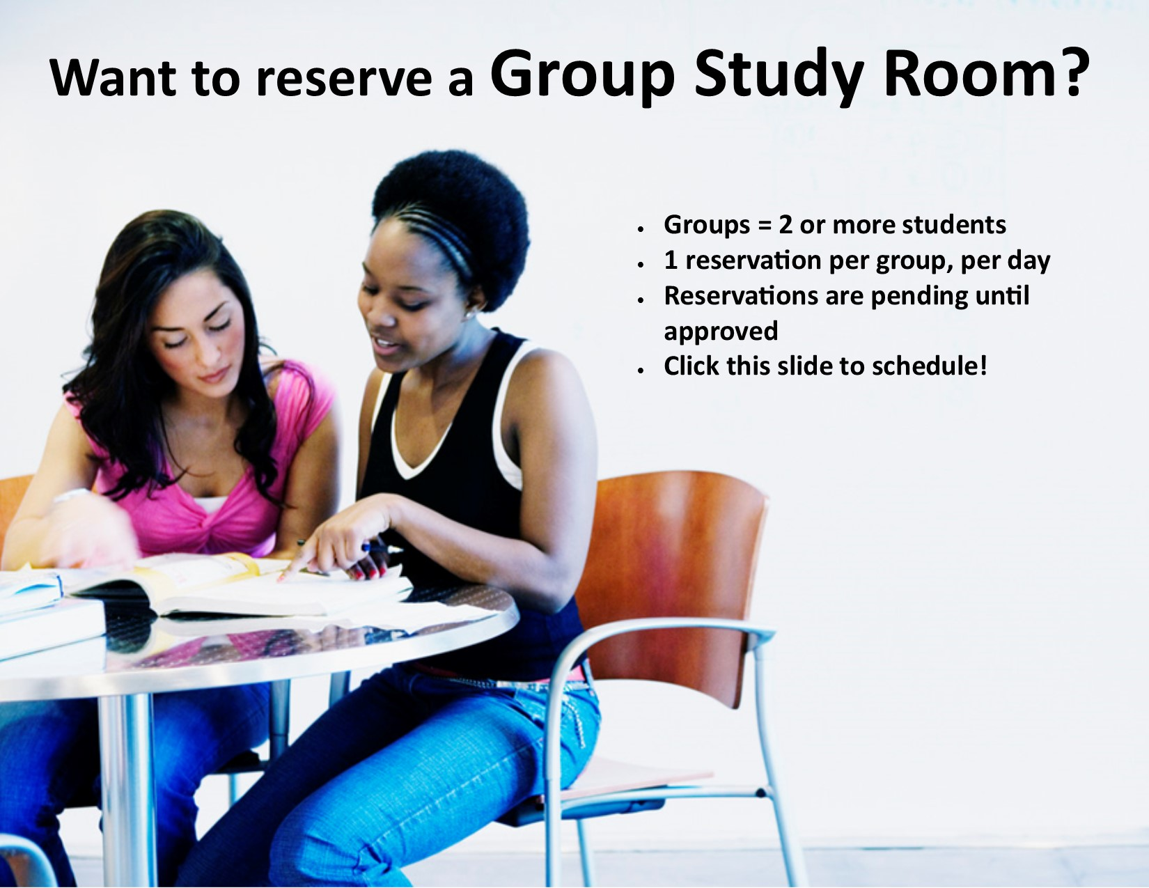 Group study room reservation link