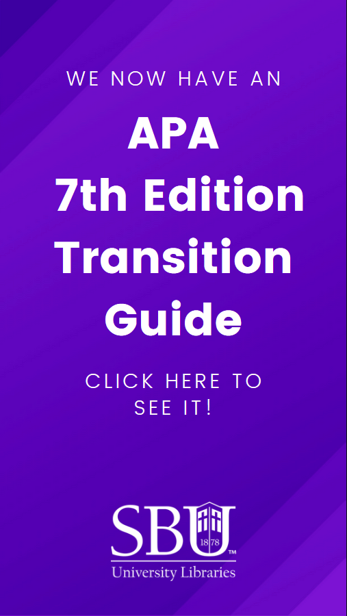 Click for the APA 7th edition transition guide