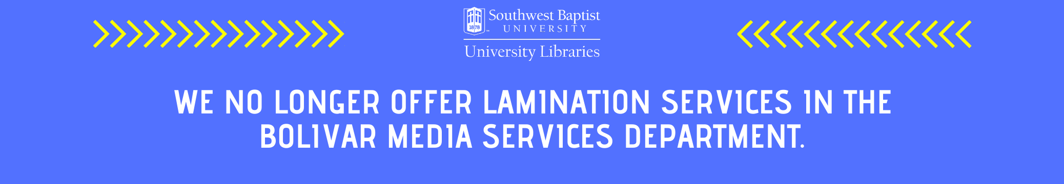 Media Services no longer has lamination services