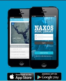 Naxos Music Library app available for download in the Apple App Store and Google Play Store