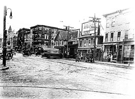 Picture of Bridge Street at Lakeview Avenue 1931.