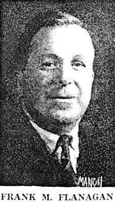 Newspaper photograph of Frank M Flanagan