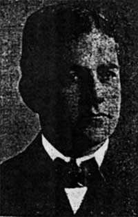 Newspaper clipping of a picture of Fred H Rourke