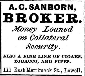 City Business Directory ad for A.C. Sanborn, Broker
