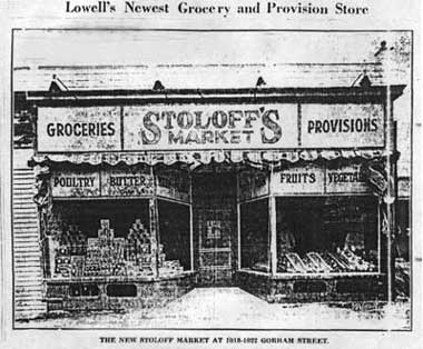 Picture of Stoloff's Market in 1924